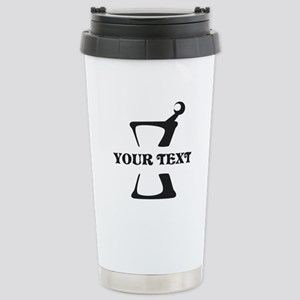 Black your text Mortar Stainless Steel Travel Mug