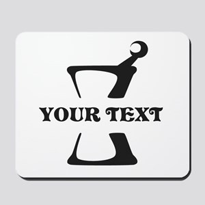Black your text Mortar and Pestle Mousepad