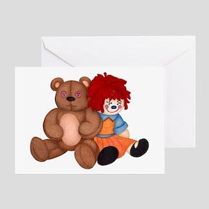 Teddy Rag Doll Greeting Cards
