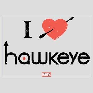 I Heart Hawkeye Red Wall Art
