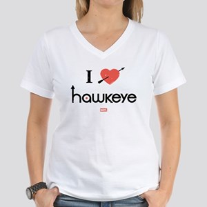 I Heart Hawkeye Red Women's V-Neck T-Shirt