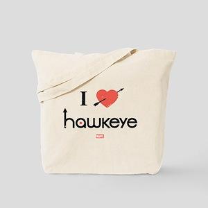 I Heart Hawkeye Red Tote Bag
