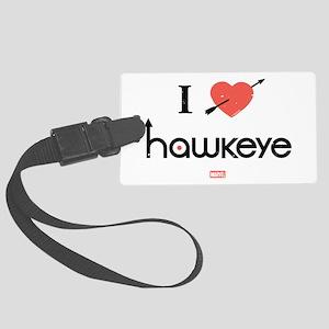I Heart Hawkeye Red Large Luggage Tag