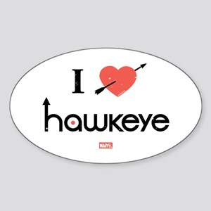I Heart Hawkeye Red Sticker (Oval)