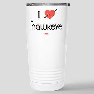 I Heart Hawkeye Red Stainless Steel Travel Mug