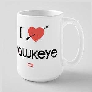 I Heart Hawkeye Red Large Mug