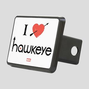 I Heart Hawkeye Red Rectangular Hitch Cover