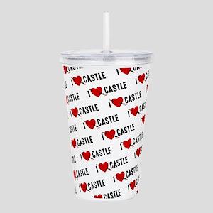 i-love-castle_wh_sb Acrylic Double-wall Tumble