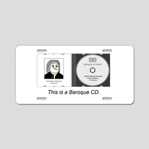 Baroque Cd Aluminum License Plate