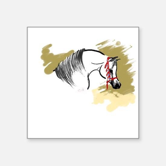 """Cute Arabian horse Square Sticker 3"""" x 3"""""""