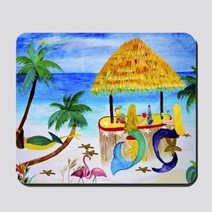 Mermaid beach bar Mousepad