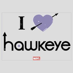 I Heart Hawkeye Purple Wall Art