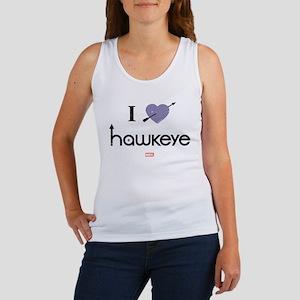 I Heart Hawkeye Purple Women's Tank Top