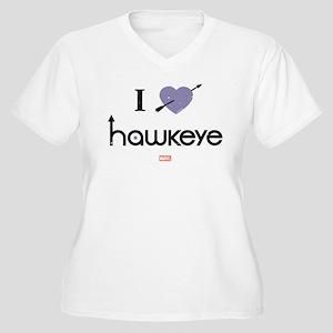 I Heart Hawkeye P Women's Plus Size V-Neck T-Shirt