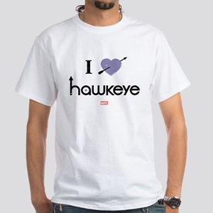 I Heart Hawkeye Purple White T-Shirt