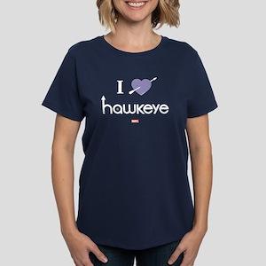 I Heart Hawkeye Purple Women's Dark T-Shirt