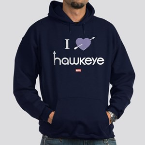 I Heart Hawkeye Purple Hoodie (dark)