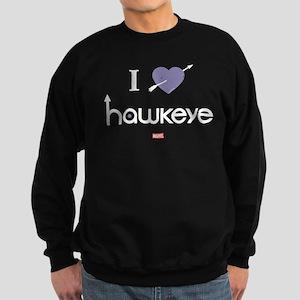 I Heart Hawkeye Purple Sweatshirt (dark)