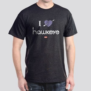 I Heart Hawkeye Purple Dark T-Shirt