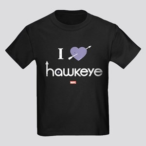 I Heart Hawkeye Purple Kids Dark T-Shirt