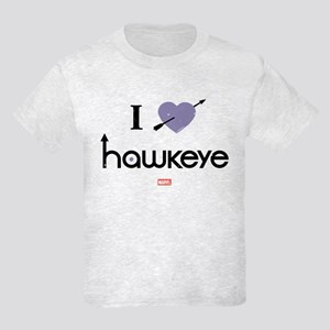 I Heart Hawkeye Purple Kids Light T-Shirt