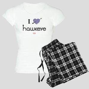 I Heart Hawkeye Purple Women's Light Pajamas