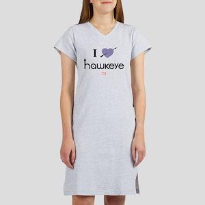 I Heart Hawkeye Purple Women's Nightshirt
