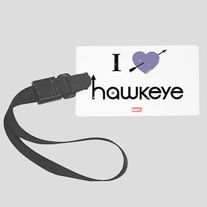I Heart Hawkeye Purple Large Luggage Tag