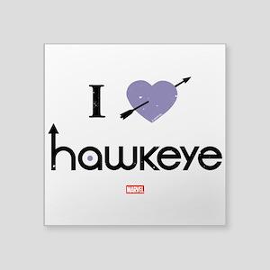 "I Heart Hawkeye Purple Square Sticker 3"" x 3"""
