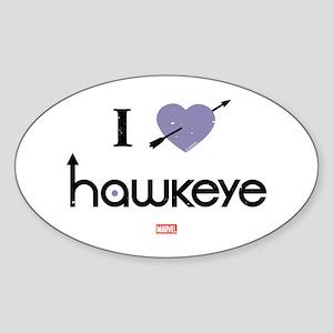I Heart Hawkeye Purple Sticker (Oval)