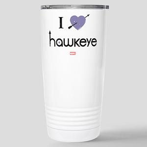 I Heart Hawkeye Purple Stainless Steel Travel Mug