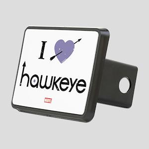 I Heart Hawkeye Purple Rectangular Hitch Cover