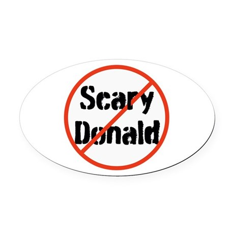Scary Donald Trump Oval Car Magnet