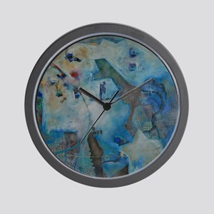 """Abstract Design, """" Clouds over Sioux Fa Wall Clock"""