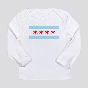 Flag of Chicago Long Sleeve T-Shirt