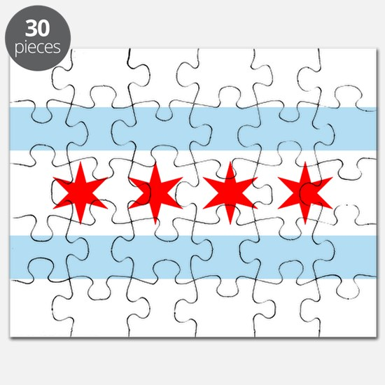 Cute Chicago the windy city Puzzle
