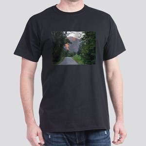 Colorado Mountain trail at sunset Dark T-Shirt