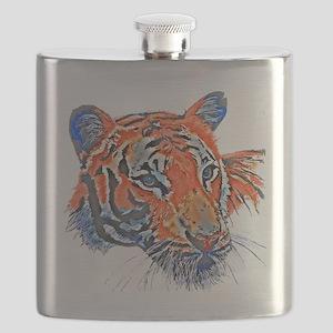 Orange Tiger Flask