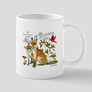 modern vintage woodland winter fox Mugs