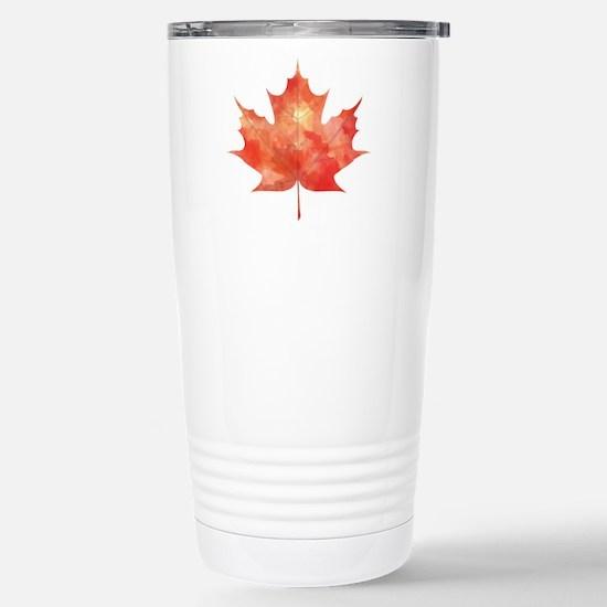 Maple Leaf Art Stainless Steel Travel Mug
