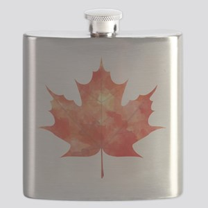 Maple Leaf Art Flask
