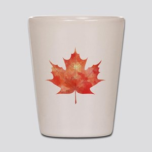 Maple Leaf Art Shot Glass