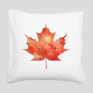Maple Leaf Art Square Canvas Pillow
