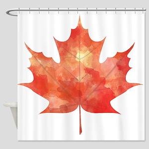 Maple Leaf Art Shower Curtain