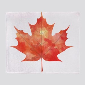Maple Leaf Art Throw Blanket