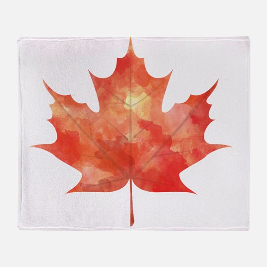 Maple Leaf Art Throw Blanket