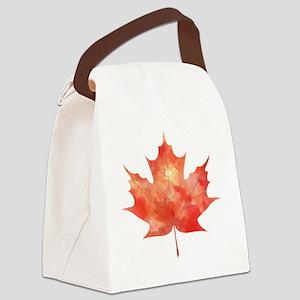 Maple Leaf Art Canvas Lunch Bag