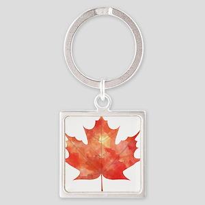 Maple Leaf Art Keychains