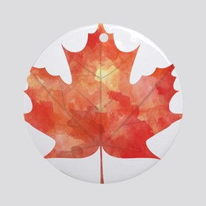 Maple Leaf Art Ornament (Round)