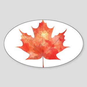 Maple Leaf Art Sticker
